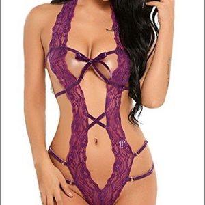 NWT Sexy Lace Bodysuit